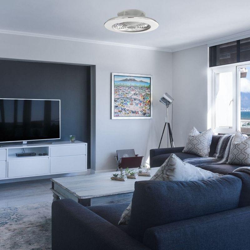 ventilateur plafond sans pale avec lampe LED silencieux et moteur dc